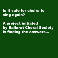 Singing Together Again: Research Project